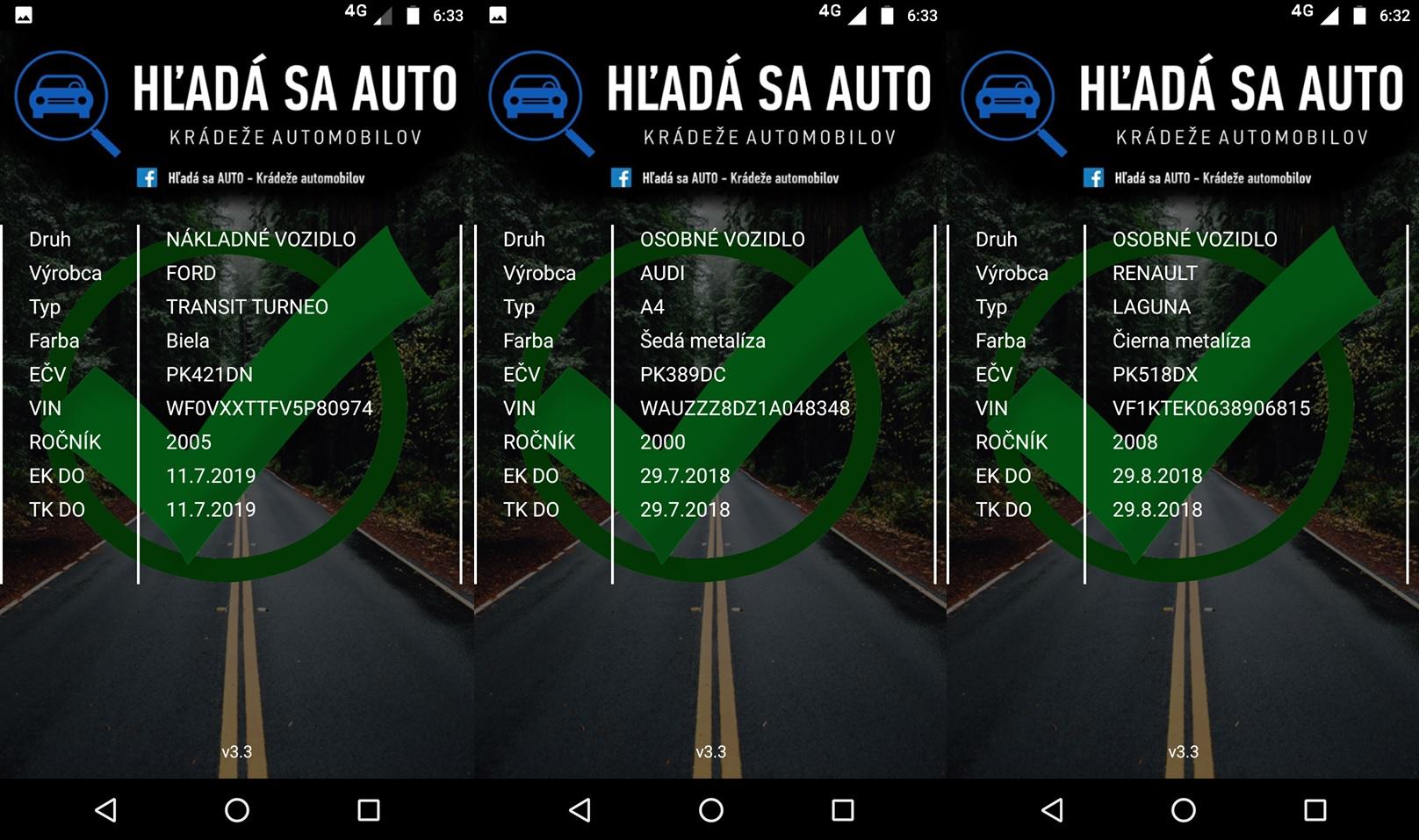Systém Haka - Hľadá sa auto - Vyhľadávanie kradnutých áut na Slovensku