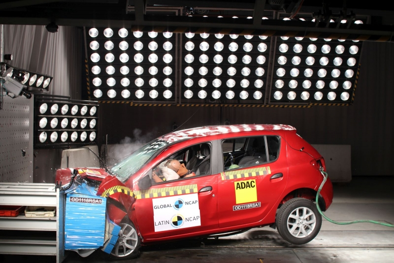 crash test Sandero