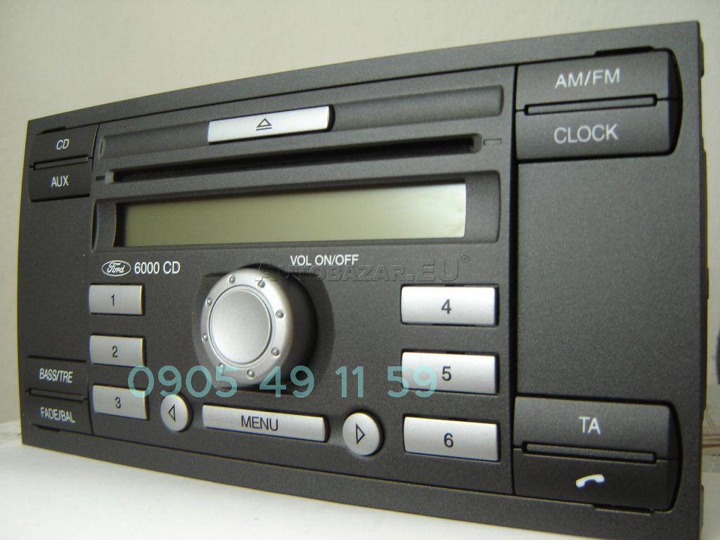 autoradio ford 6000 cd ford 6000 cd carradio car radio. Black Bedroom Furniture Sets. Home Design Ideas