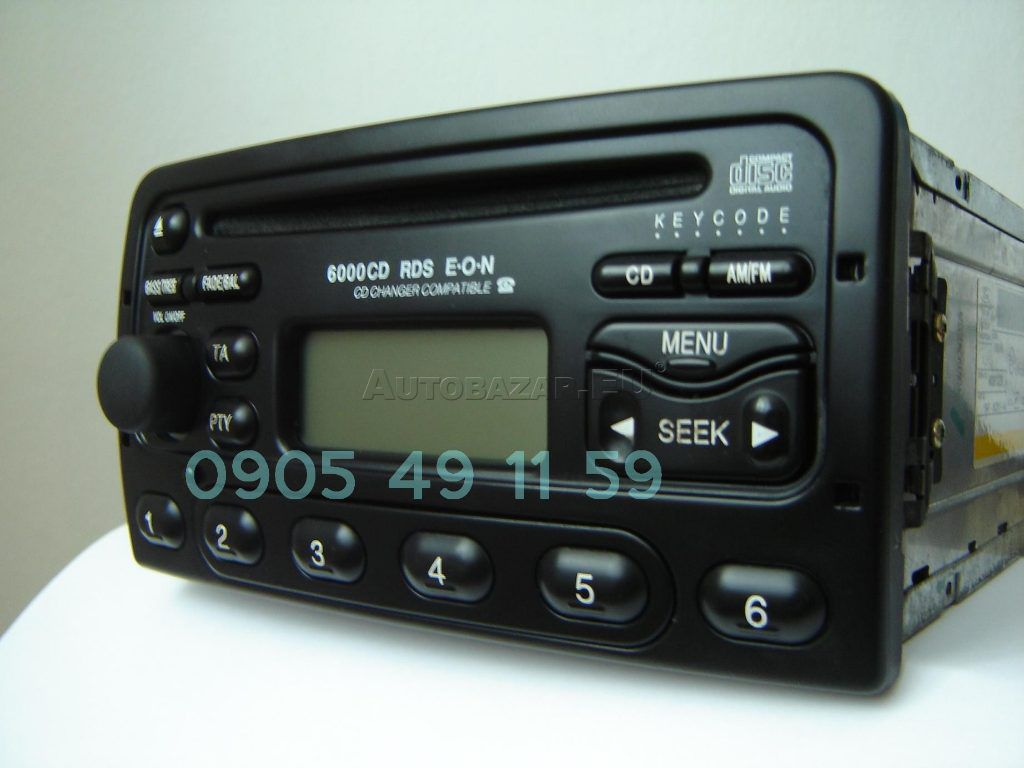 autoradio ford 6000cd rds eon za 66 00 autobaz r eu. Black Bedroom Furniture Sets. Home Design Ideas